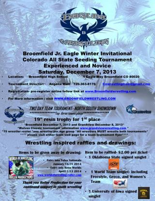 Broomfield Jr. Eagle Winter Invitational Colorado All State Seeding Tournament