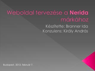 Weboldal tervezése a  Nerida  márkához