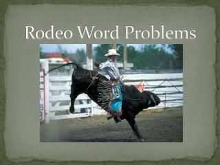 Rodeo Word Problems