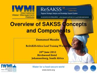 Overview of SAKSS Concepts and Components