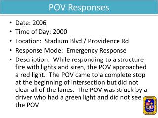 POV Responses