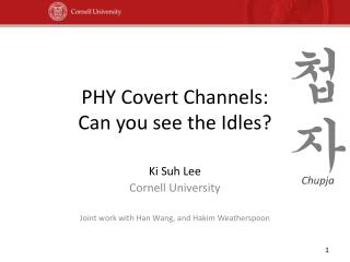 PHY Covert Channels: Can you see the Idles?