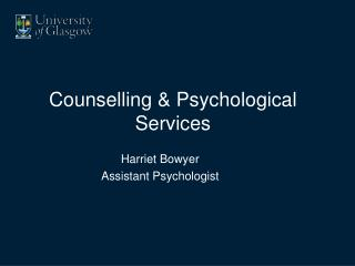 Counselling & Psychological Services
