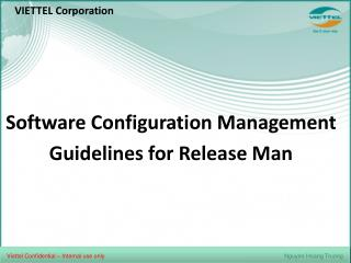 Software Configuration Management Guidelines for Release Man