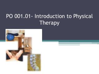 PO 001.01- Introduction to Physical Therapy