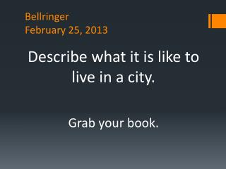 Bellringer February 25, 2013