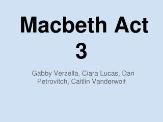 Macbeth Act 3