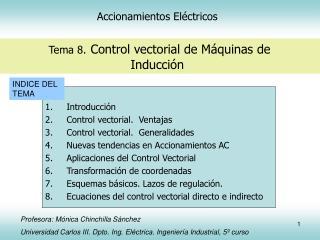 Accionamientos El ctricos    Tema 8. Control vectorial de M quinas de Inducci n