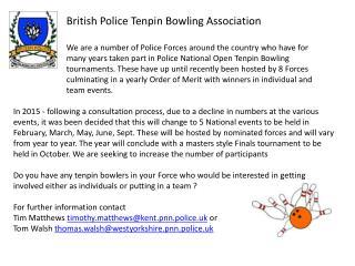 British Police Tenpin Bowling Association