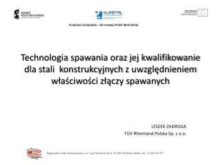 LESZEK ZADROGA TÜV  Rheinland  Polska Sp.  z  o.o.