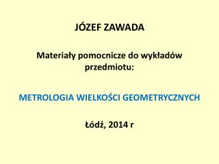 JÓZEF ZAWADA