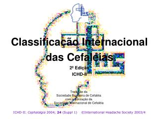 Classifica  o Internacional das Cefal ias 2  Edi  o ICHD-II