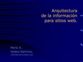 Arquitectura  de la informaci n para sitios web.