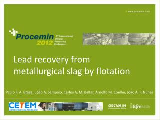 Lead recovery from metallurgical slag by flotation
