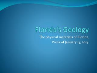 Florida's Geology