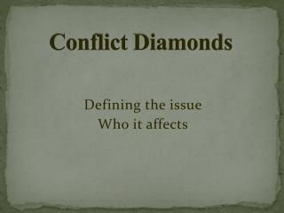 Conflict Diamonds