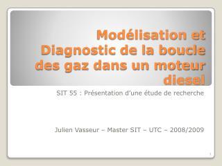 Modélisation et Diagnostic de la boucle des gaz dans un moteur diesel
