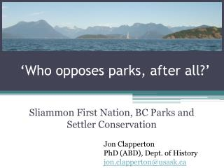 'Who opposes parks, after all?'