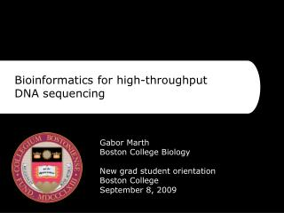 Bioinformatics for high-throughput DNA sequencing