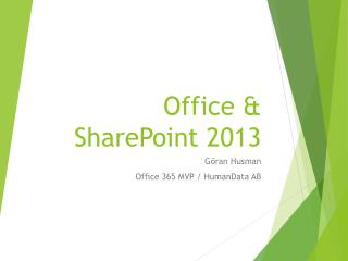 Office & SharePoint 2013