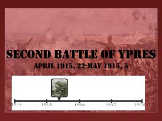 Second Battle of  Ypres April 1915, 22-May 1915, 5