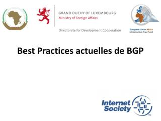 Best Practices  actuelles  de BGP