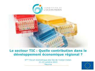 Connectivité et développement économique des îles de l'océan Indien