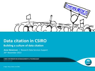 Data citation in CSIRO