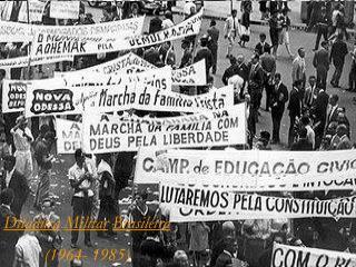 E foi assim que a ditadura come ou em 1964...