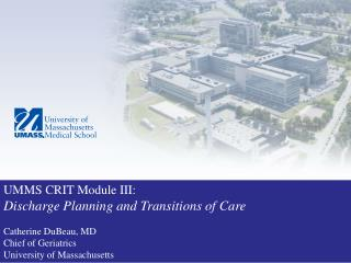 Discharge Planning and Transitions of Care: Where are they going and why?