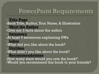 PowerPoint Requirements