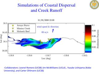 Simulations of Coastal Dispersal  and Creek Runoff