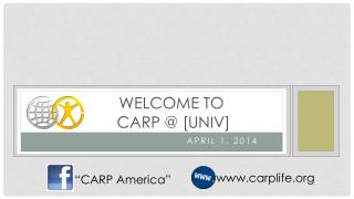 Welcome  to        CARP  @ [UNIV]