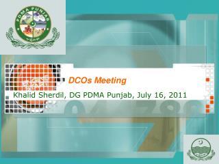 DCOs Meeting