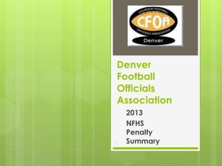 Denver Football Officials Association