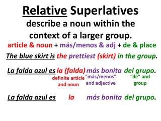 Relative  Superlatives