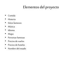 Elementos  del  proyecto