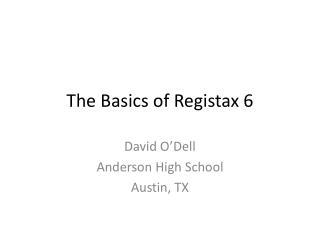 The Basics of  Registax  6