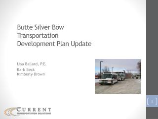 Butte Silver Bow Transportation Development Plan Update
