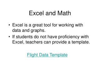 Excel and Math