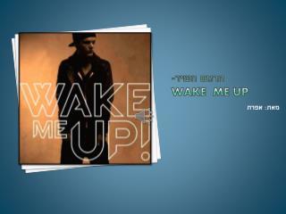 תרגום השיר- wake  me up