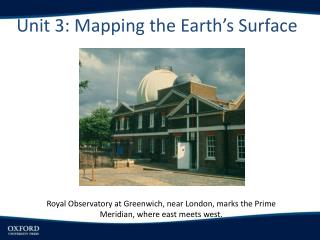 Unit 3: Mapping the Earth's Surface