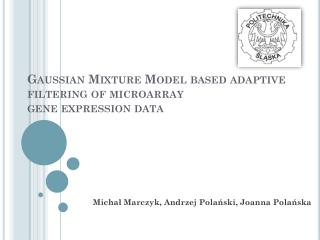Gaussian Mixture  Model  based adaptive filtering  of  microarray gene expression  data