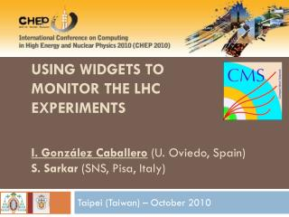 Using widgets to monitor the LHC  experiments