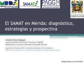 El SAMAT en Mérida: diagnóstico, estrategias y prospectiva