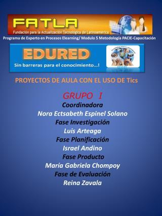 PROYECTOS DE AULA CON EL USO DE Tics