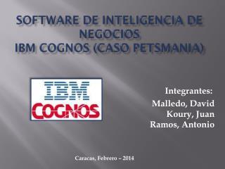 SOFTWARE  DE INTELIGENCIA DE NEGOCIOS IBM COGNOS (Caso  Petsmania )