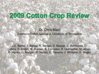 2009 Cotton Crop Review
