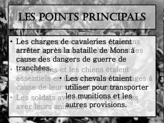 Les points principals