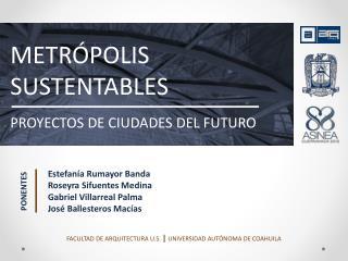 METRÓPOLIS SUSTENTABLES PROYECTOS DE CIUDADES DEL FUTURO